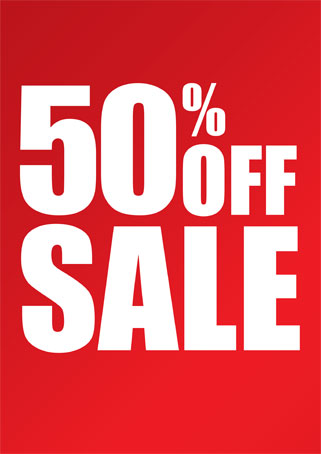 50% OFF GPOverstock SALE Help us reduce our overstock on over of our best selling titles and enjoy amazing discounts of 50% OFF the original prices! NOTE: NO FURTHER DISCOUNTS FOR ALREADY REDUCED SALE ITEMS.
