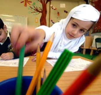 Muslim primary students