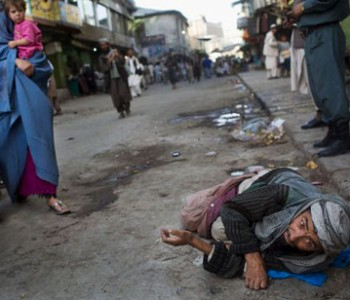 Afghans left begging in the streets of Kabul