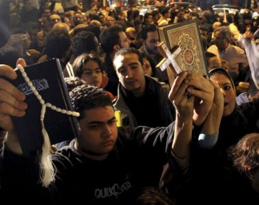 United in protest against Mubarak