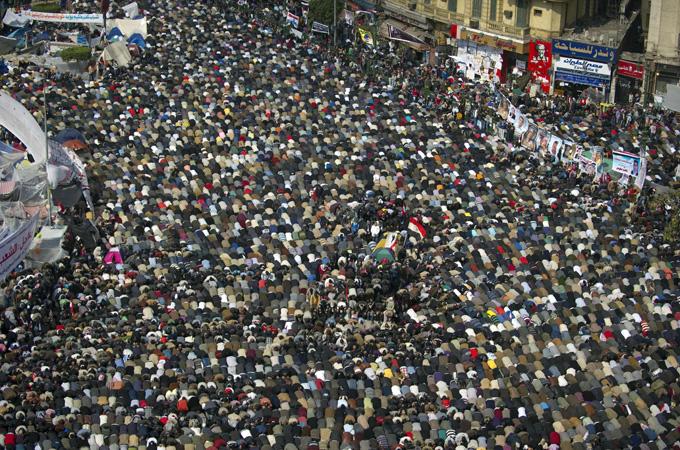 Egypt - Tahrir Square prayers