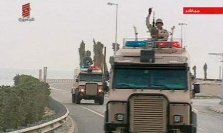 Saudi Arabian troops enter Bahrain