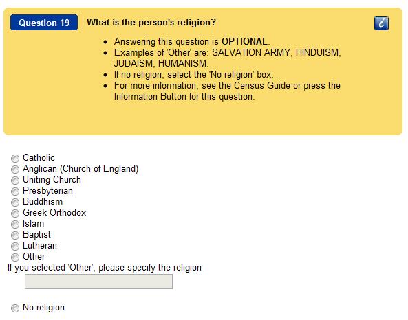Census Religion Question