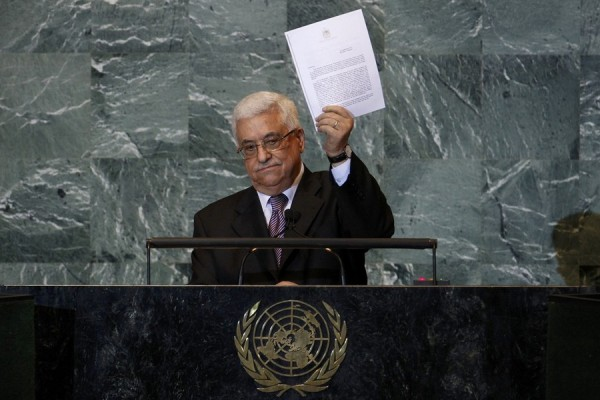 The Palestinian president Mahmoud Abbas has formally presented a request for the United Nations to recognise Palestine as a sovereign state.