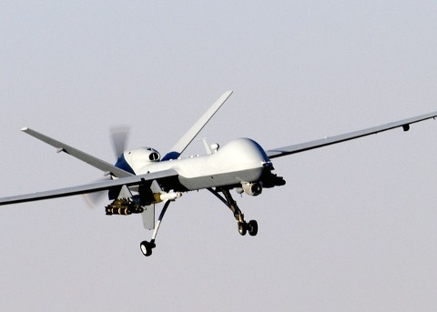 A MQ-9 Reaper drone in Afghanistan in 2007. US Air Force