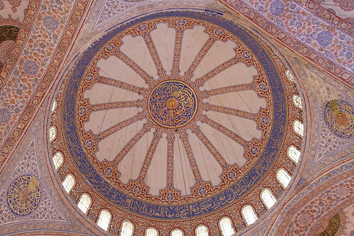 Inside Sultan Ahmed mosque; Natural light