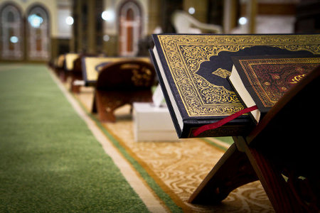 Qur'ans in a mosque