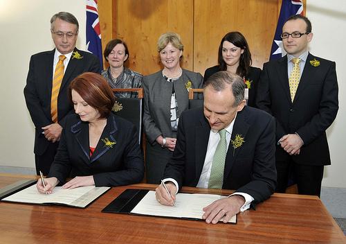 Julia Gillard & Bob Brown by Green MPs / Creative Commons