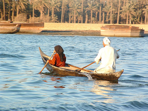 Boat on Shatt-al-Arab by Christiaan Briggs / Creative Commons