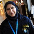 In neighbouring Sweden, police and passport officers like Masooma Yaqub have had the right to wear a hijab with their uniform since 2006 (Photo: Fredrik Sanderg/Scanpix).
