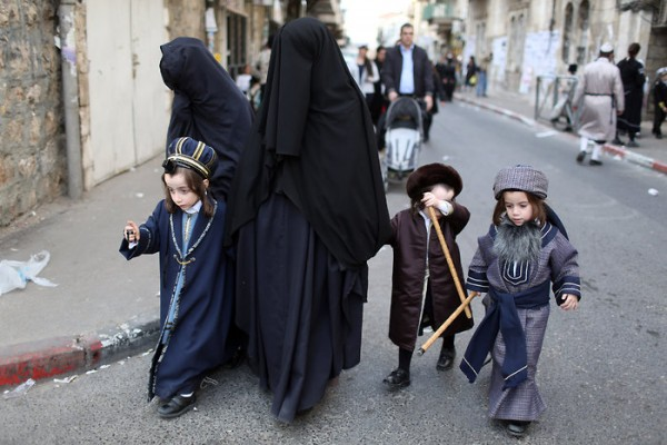 Ultra-Orthodox Jewish women belonging to the religious sect Women