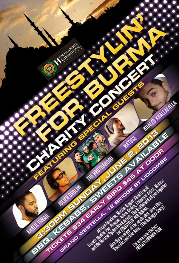 Free Style for Burma charity concert
