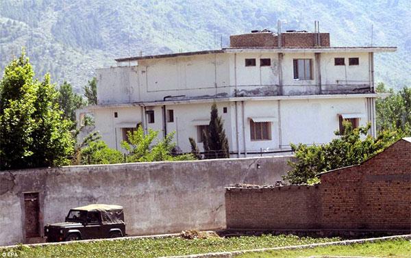 Bin Laden's compund in Pakistan.