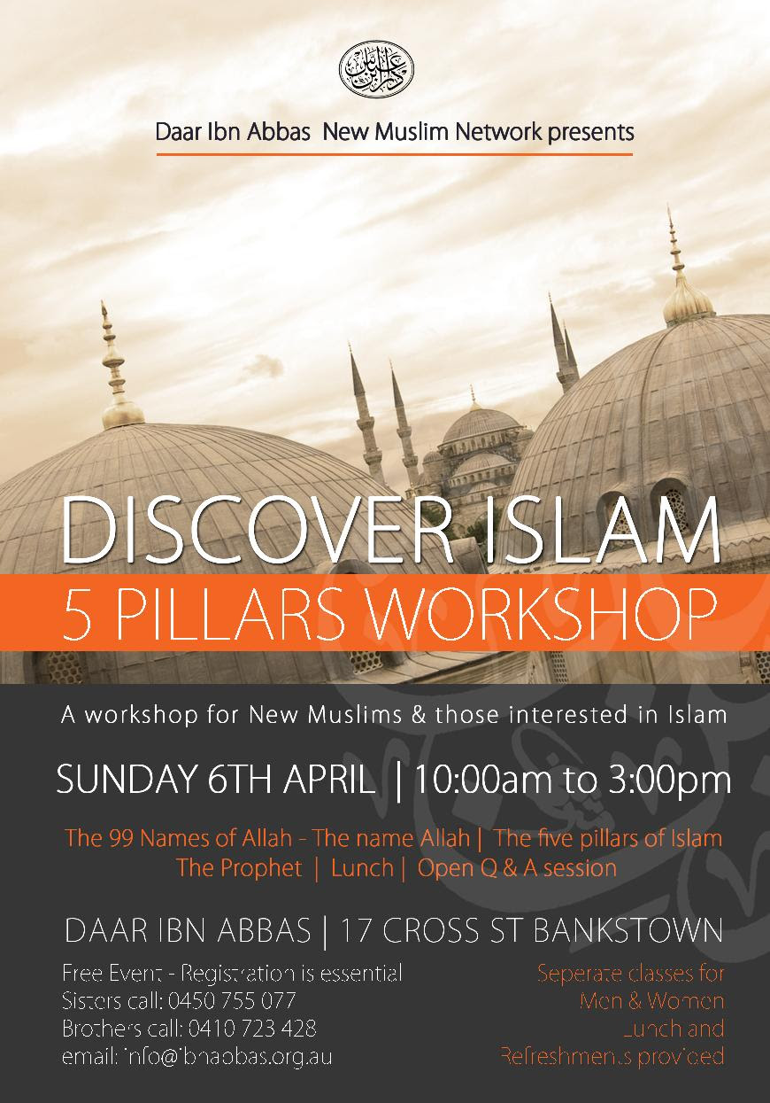 Apr 06 2014 - SYD - 5 Pillars of Islam - New Muslims Workshop