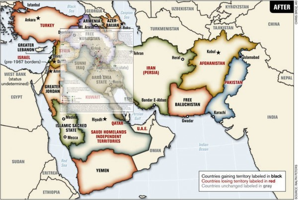 Greater israel 1982 plan for mideast empire aided by isis siasat the map of isis controlled territory over the map of the newly proposed bordersof the middle east to make it easier to see the congruity between isis gumiabroncs Gallery