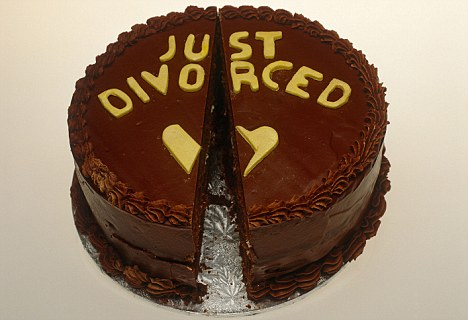 Chocolate cake Just divorced