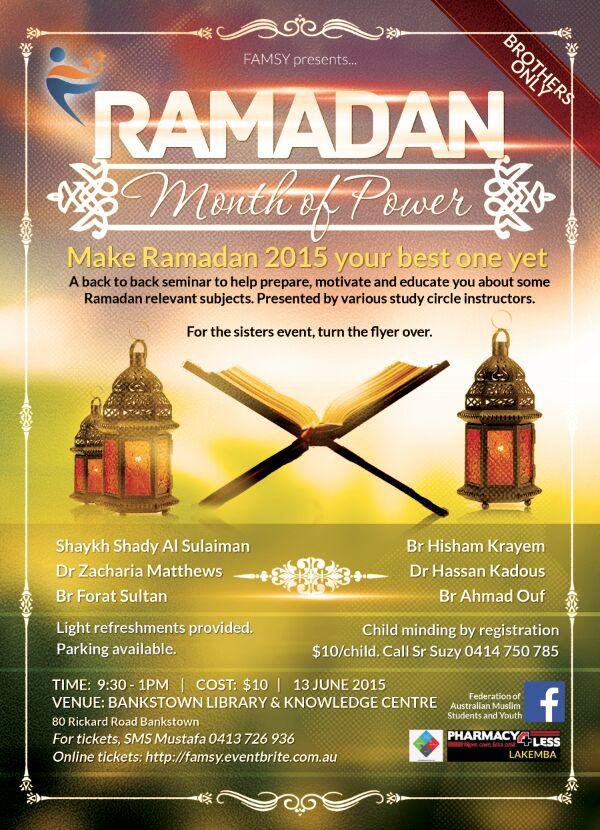 Jun 13 2015 – SYD – Ramadan Month of Power