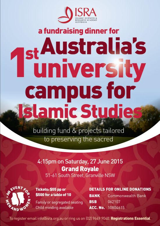 Jun 27 2015 – SYD – Australia's 1st University campus for Islamic Studies