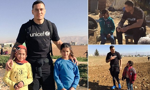@SonnyBWilliams will see what life is like for children in #Lebanon affected by the Syrian crisis